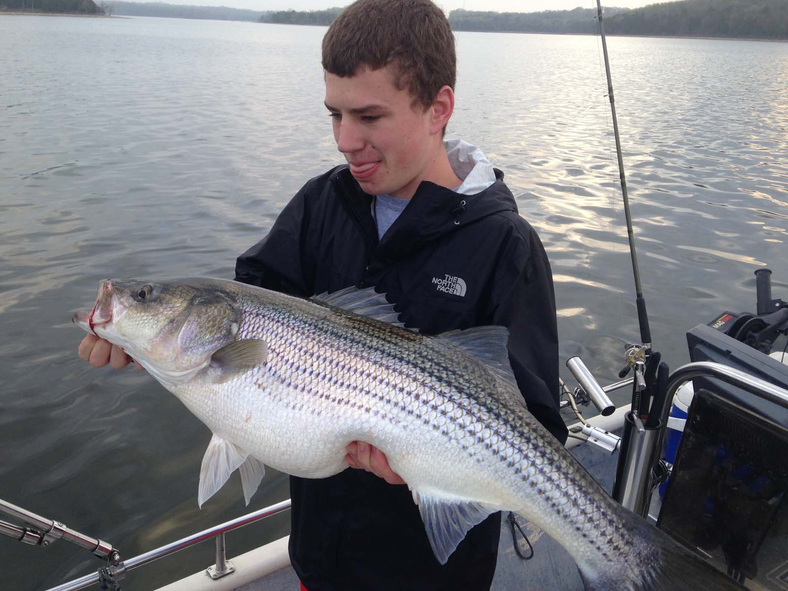 Gift certificates nashville fishing charters for Tims ford lake fishing report
